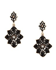 Mood Embellished Jet Bead Drop Earring