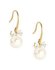 Jon Richard Bow And Pearl Drop Earring