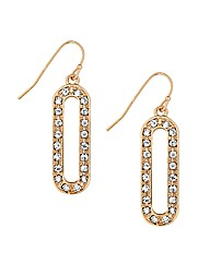 Jon Richard Oval Crystal Drop Earring