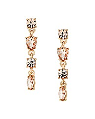 Jon Richard Peach Stone drop Earring