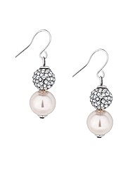 Jon Richard Pearl And Ball Drop Earring