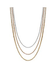 Jon Richard Diamante Triple Row Necklace