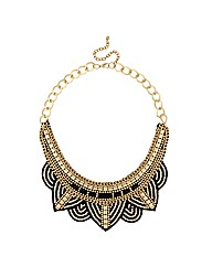 Mood Gold Bead Embellished Necklace