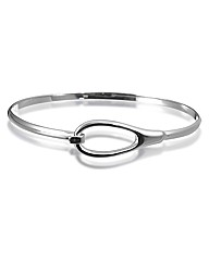 Simply Silver Organic Loop Catch Bangle
