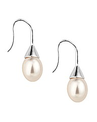Jon Richard Cream Pearl Drop Earring