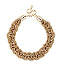Mood Gold Plaited Mesh Chain Necklace