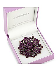 Jon Richard Crystal Purple Flower Brooch