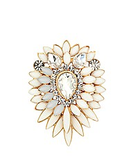Mood Statement Starburst Stone Brooch