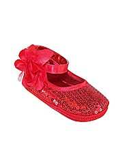 Sparkle Club Red Soft Sole Baby Shoes