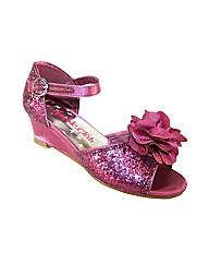Sparkle Club Dark Pink Glitter Sandals