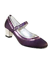 Sparkle Club Purple Satin Shoes
