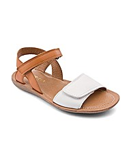 Start-rite Vanda Cream/Tan Leather Fit F