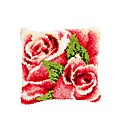 Latch Hook Kit - Cushion - Pink Rose