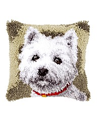 Latch Hook Kit - Cushion - Scotty Dog