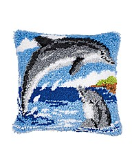 Latch Hook Kit - Cushion - Dolphin
