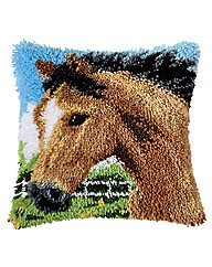 Latch Hook Kit - Cushion - Horse
