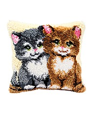 Latch Hook Kit - Cushion - Kittens