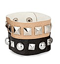 Mood Faux Leather Studded Bracelets