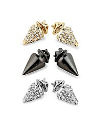 Mood Crystal Collar Tip Brooches