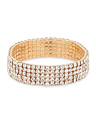 Mood Diamante Crystal Stretch Bracelet
