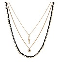Mood Triple Row Charm Drop Necklace