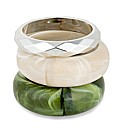 Mood Set Of Three Marbleized Bangles