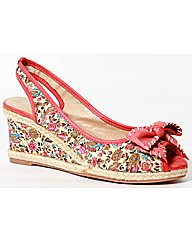Strawberry Floral Wedge With Bow