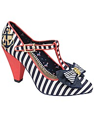 Babycham Kimberly Stripe court shoes
