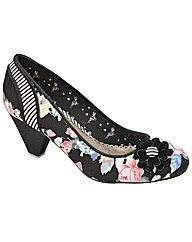 Babycham Ursula Floral court shoes