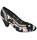 Babycham Ursula Floral court shoes
