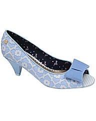 Babycham Uma Lace peep-toe shoes