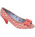 Babycham Uma Lace peep-toe shoes