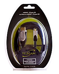 Telecam HDMI Cable Type A to Type D 3M
