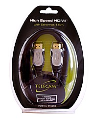 Telecam 1.5 Metre 3D HDMI Cable Gold End