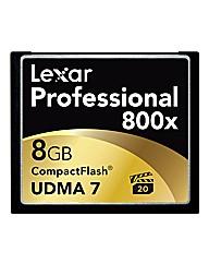 Lexar 8GB 800x Pro Compact Flash Card