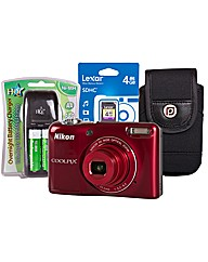 Nikon Coolpix L30 Red Camera Kit