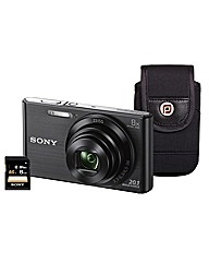 Sony DSC-W830 Black Camera Kit