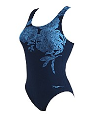 Zoggs Ocean Bloom Actionbk Swimsuit