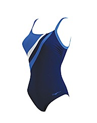 Zoggs Ocean Bloom Crossbk Swimsuit