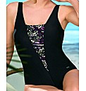 Naturana Black Print Padded Swimsuit