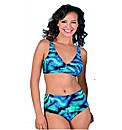 Naturana Blue Print Bikini Set Non-Wired