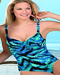 Naturana Blue Print Underwired Swimsuit