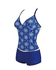 Zoggs Blue Bazaar Tankini swimsuit