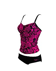 Zoggs Water Rose Tankini swimsuit