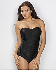 Pour Moi Strapless Rouched Control Suit