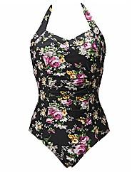 Pour Moi Flowers Halter Control Swimsuit