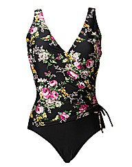 Pour Moi Flowers Wrap Over Control Suit