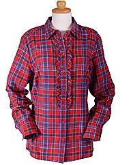Double TWO Woman Check Blouse