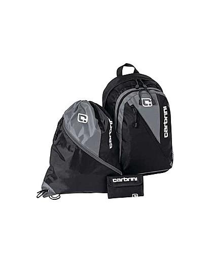 Image of Carbrini 3 Piece Backpack Set - Black.