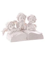 Cherub Trio Reading an Open Book